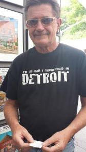 Jan rockin' his Detroit T @ The Ann Arbor Art Fair